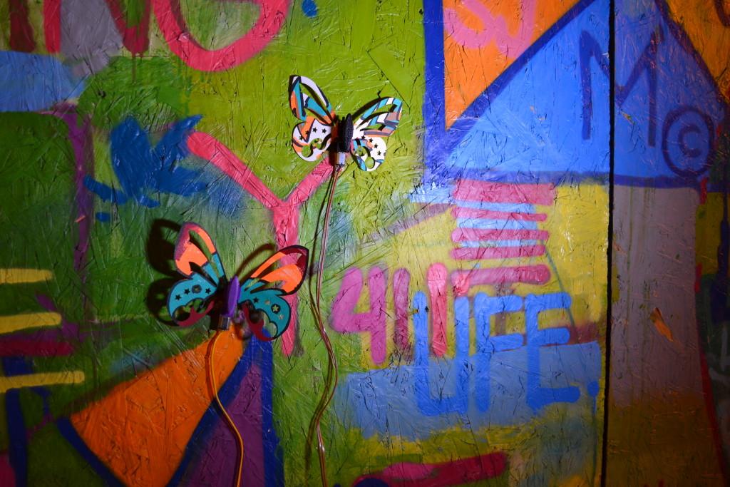 Graffiti butterflies